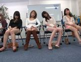 Horny Asian teens get off masturbation in a sex workshop