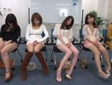 Horny Asian teens get off masturbation in a sex workshop picture 13