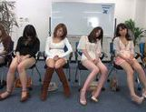 Horny Asian teens get off masturbation in a sex workshop picture 15