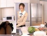 Yuu Asakura Cooks As We Watch Her Ass Up Her Skirt