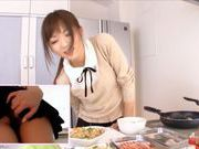 Yuu Asakura Cooks As We Watch Her Ass Up Her Skirtasian wet pussy, japanese porn}