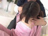 Cute Ami Matsuda gets drenched in cum picture 13