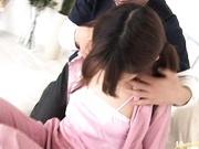 Cute Ami Matsuda gets drenched in cum