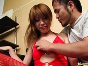 Hitomi Odagiri Hot Asian babe in red hot lingerie