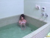 Hottie gives blowjob and fucks in the bath Mako Higashio picture 12