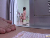 Hottie gives blowjob and fucks in the bath Mako Higashio