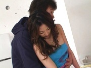 Hot milf Miki Asada gets cum on boobs
