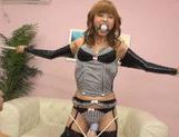 Sexy babe Hana Yoshida gets a good fuck and a vibrator in her pussy. picture 11