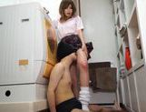Horny Nonoka Momose gives footjob and gets hot cumshot picture 9