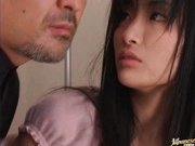 Young hottie Rei Amami pussy licked and fucked in bed