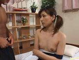 Japanese hottie gets cum on tits! picture 11