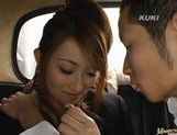 Nao Yoshizaki enjoying some hot car sex! picture 5