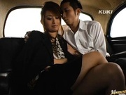 Nao Yoshizaki enjoying some hot car sex!