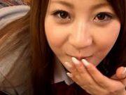 Schoolgirl Dick Sucker Hitomi Kitagawa Loves Hot Cum