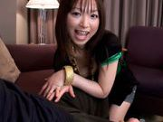 Emiru Momose gives stunning blowjobasian women, asian chicks}