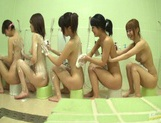 Bathhouse naked Japanese women with peeping dude Mako Higashio picture 10