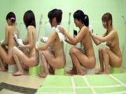 Bathhouse naked Japanese women with peeping dude Mako Higashioxxx asian, asian babe}