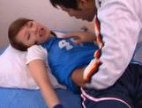 Yui Uehara wearing a sport uniform gets fucked and sucks cock. picture 13