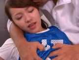 Yui Uehara wearing a sport uniform gets fucked and sucks cock. picture 14
