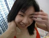 Miki Sawakuchi fingering hairy pussy picture 3