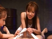 Shelly Fujii and Yuu Kawakami give a hot blowjob