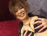 Big Titted Runa Sesaki's Vibrator Gives Her An Orgasm