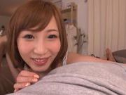 Teen beauty Mei Kago rides a cock in a POV hardcore video
