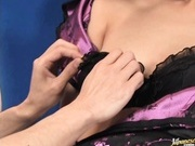 Sexy amazing milf Ami Matsuda gets her hairy cunt licked by her slave