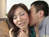 Hot babe Sana Okada gets her pussy drilled and the cum in face.