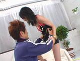 Horny Japanese milf Hina poses for the camera and then gets a wild fuck. picture 1