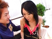 Horny Japanese milf Hina poses for the camera and then gets a wild fuck.