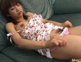 Nice teen Ami Kitazawa improvises some sex toys with everything she finds in her lady wallet. picture 12