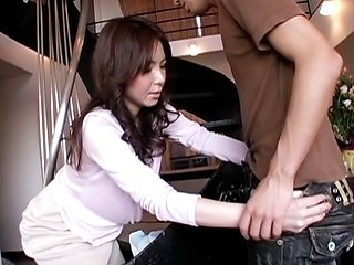Horny Mizuki Tachibana in an oral scene shows her perfect mouth in action.