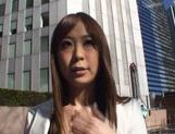 Sae Aihara Sucks Cock And Masturbates In A Moving Car