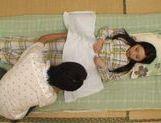 Shameless Asian babe Rika Araki caught stroking and sucking cock in voyeur sex tape