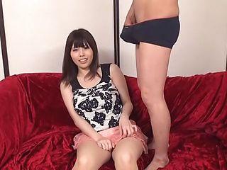Cum-thirsty Asian milf engulfs big dick and gets screwed