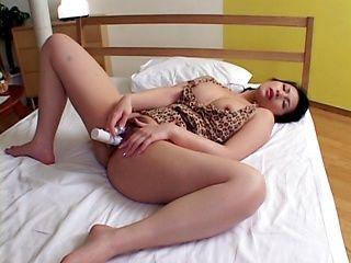 Sexy milf Chinami Sakai masturbation