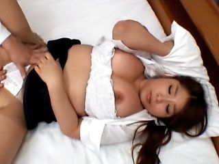 Hot Japanese babe destroyed by big dick