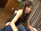 Hot mature Japanese woman squirts pussy juice and rides cock picture 13