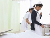 Naughty Nurses Erika Kashiwagi And A Friend Suck A Patient Off picture 11