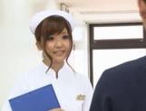 Naughty Nurses Erika Kashiwagi And A Friend Suck A Patient Off picture 1