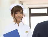 Naughty Nurses Erika Kashiwagi And A Friend Suck A Patient Off picture 2
