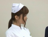 Naughty Nurses Erika Kashiwagi And A Friend Suck A Patient Off picture 4