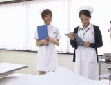 Naughty Nurses Erika Kashiwagi And A Friend Suck A Patient Off picture 5