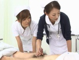 Naughty Nurses Erika Kashiwagi And A Friend Suck A Patient Off