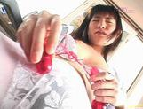Saki Budou sucks masturbation in nurse outfit picture 14