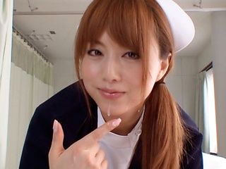 Akiho Yoshizawa Naughty Asian nurse fucks in the hospital