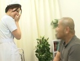 Lusty Japanese nurse licks ass and deepthroats her lover's ramrod picture 1