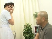 Lusty Japanese nurse licks ass and deepthroats her lover's ramrod