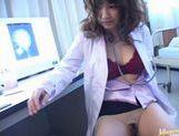 Wild nurse Meguru Kosaka fucks her pussy with sex toys